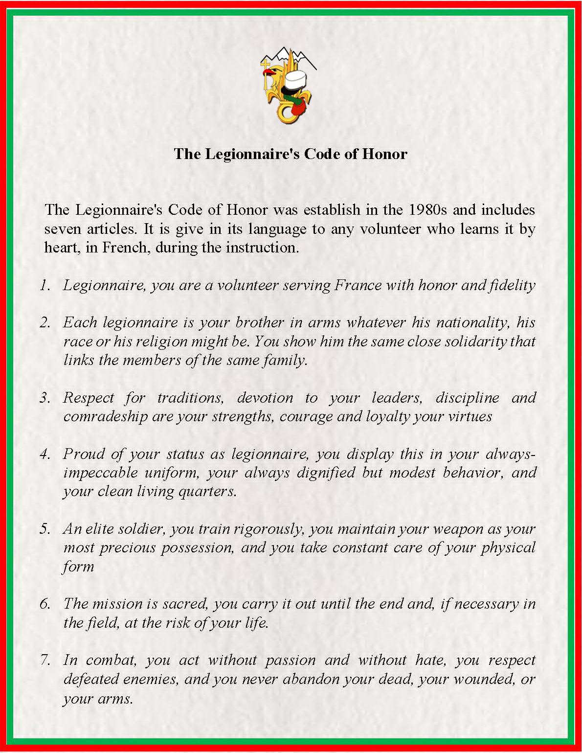 Codul de Onoare